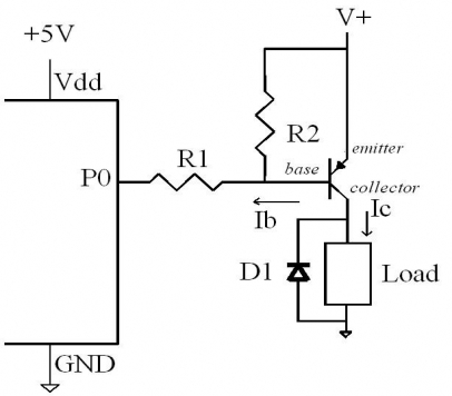 Pnp transistor switch