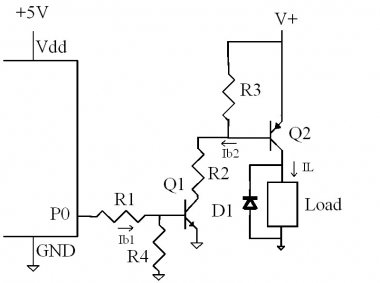 Turning on a transistor