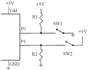 Interfacing switches to microcontrollers