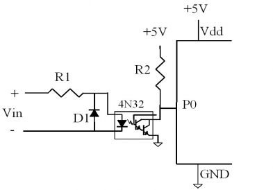 Using Optoisolators to microcontroller inputs on